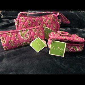 NEW Vera Bradley 3 pieces Bermuda Pink Set
